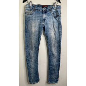 Zara Man Light Wash Skinny Jeans